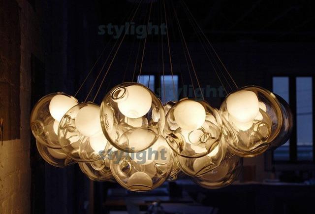 Glazen bal hanglampen diameter 10 cm, 39 heads lamp kroonluchter van ...