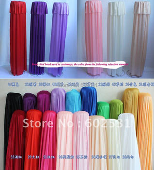 SPR Optional color High-grade double road cited hood-only cloth,not finished product wedding decorations
