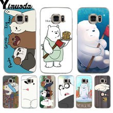 Yinuoda We Bare Ice Bear Colorful Phone Accessories Case for samsung galaxy s9 plus s7 edge s6 edge plus s5 s8 plus case(China)