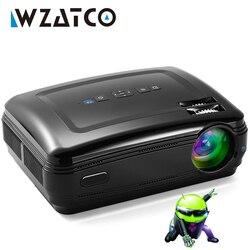 Projecteur 3D WZATCO CTL60 mise à niveau Android 7.1 WiFi 5500 Lumens Full HD 1080 P 4 K LED multimédia projecteur projecteur pour Home cinéma