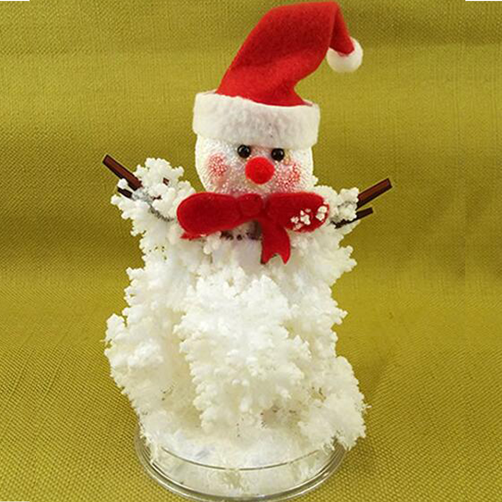 2019 220mm Hot DIY White Magic Growing Paper Snowman Crystal Tree Magical Snow Man Christmas Trees Funny Kids Toys For Children
