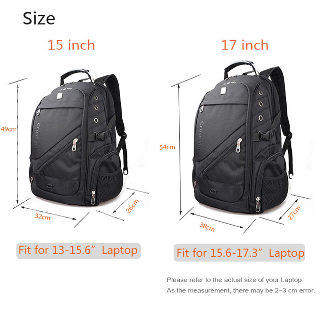Crossten Swiss Travel Bags Laptop Backpack 17.3 2