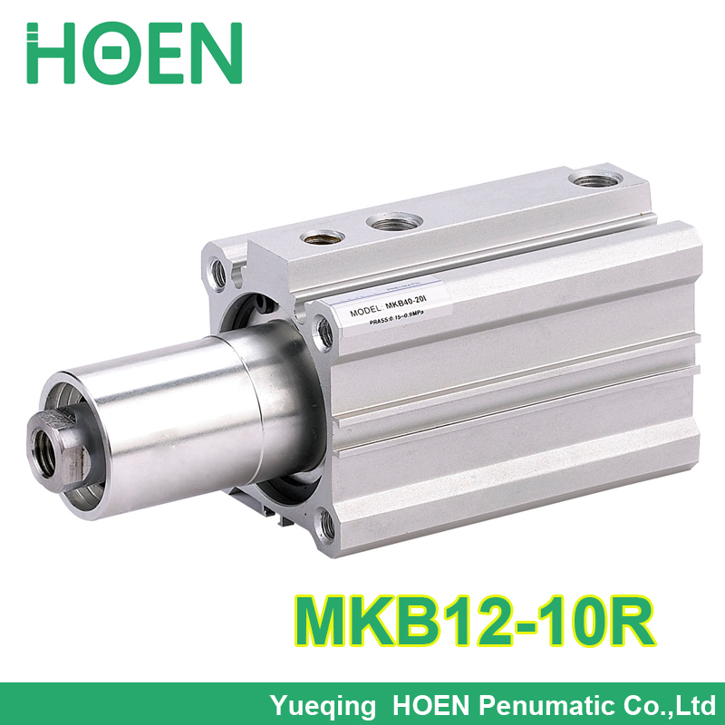 MKB12*10R double acting rotary air cylinders MKB12-10R with arm 12mm bore 10mm stroke clockwise rotary clamp pneumatic cylinder купить