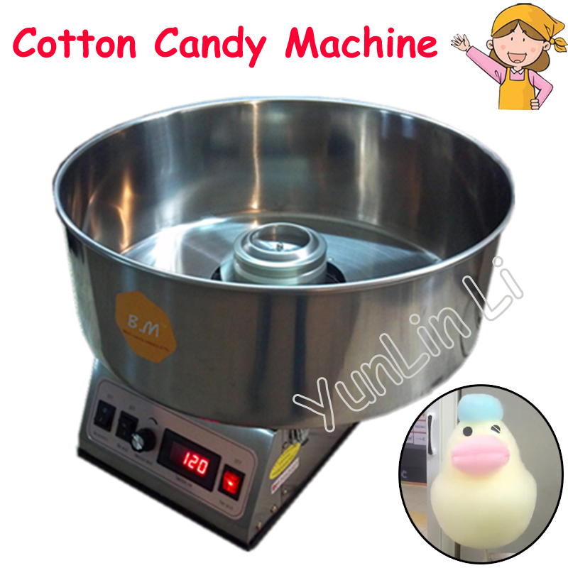Cotton Candy Machine Commercial Sugar Floss Making Children Stainless Steel Electric DIY Candy Cotton Floss Maker CC-3803H цена