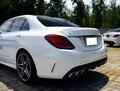 Für Benz C klasse W205 Spoiler c63 C180 C200L C300L 2014 2019 Hohe Qualität ABS Material Auto Hinten Flügel primer Farbe Heckspoiler-in Spoiler & Flügel aus Kraftfahrzeuge und Motorräder bei