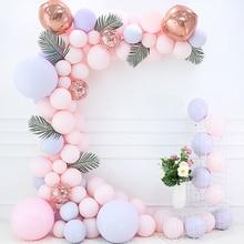 Pièces/ensemble de ballons macarons roses bleus