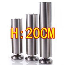 2pcs Stainless steel cabinet coffee KTV table furniture foot legs-- Diameter:50mm H:200MM(China)