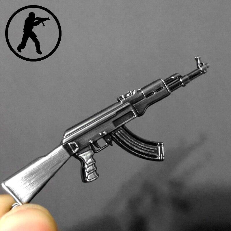 2017 Novelty Counter Strike Gun AK47 Keychain Men Trinket Awp Rifle Sniper CS GO Saber Men s Key Chain Jewelry Souvenirs Gift