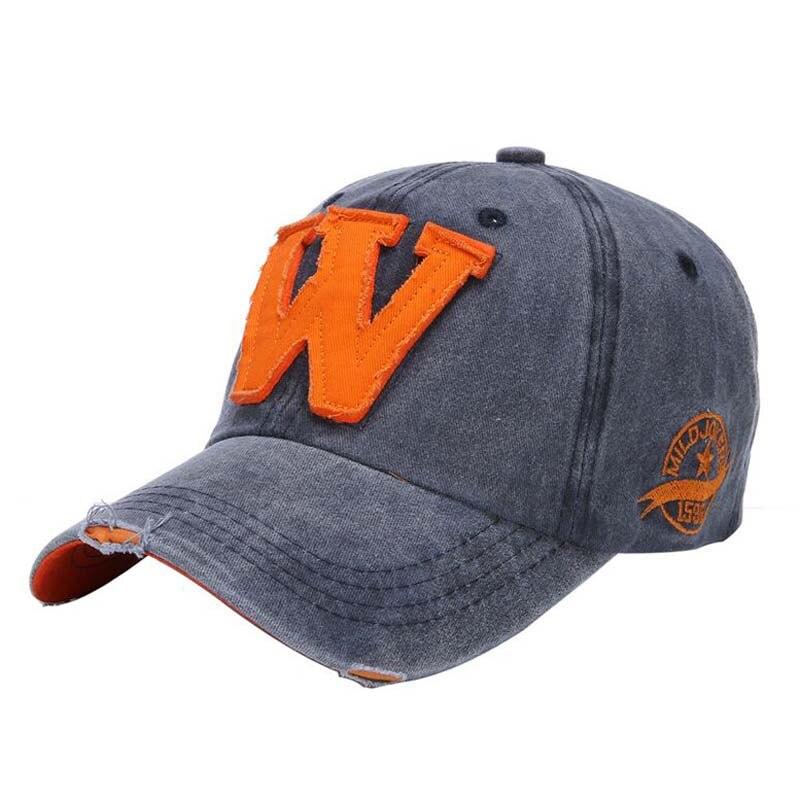 1Pcs 2019 Cotton Letter W Baseball Caps Bone Brand Spring Summer Hats For Women And Men snapback caps 8542 7 Colors