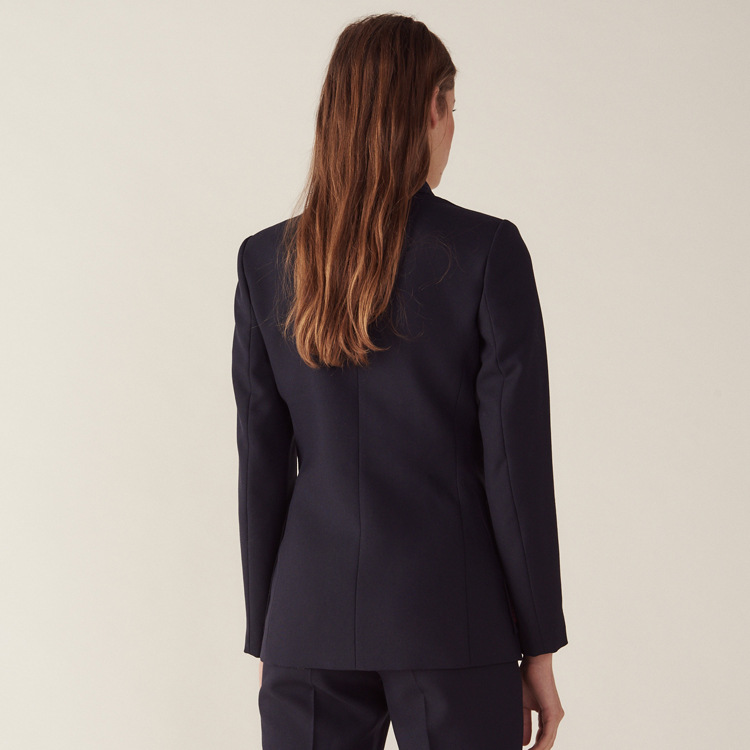 2019 Spring and Summer European and American New Navy Suit Double Breasted OL Commuter Leisure Suit Jacket Clothes Women Suit in Blazers from Women 39 s Clothing