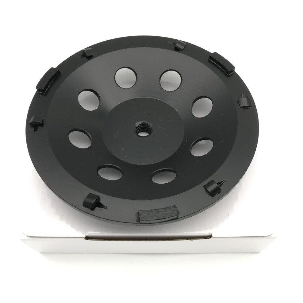 7 pouces 180mm PCD meule de meulage époxy peinture colle Mastic abrasif enlèvement des résidus 6*1/4 PCD + 3 segments pour béton de pierre