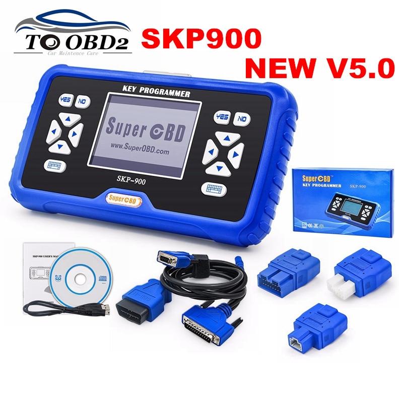Best Quality 2018 Original NEW SKP900 V5.0 SKP-900 BEST Hand-held OBD2 Key Programmer Support Almost Cars Update Online  SKP 900