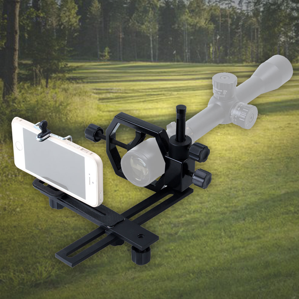 JouFou Universal Tripod Head Holder Support Mount Adapter Hunter Hunting Camera Camcorder Phone Attach Spotting Scope