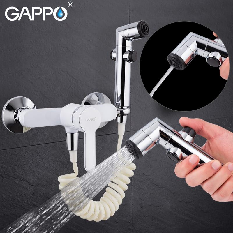 купить Gappo portable bidet faucet bidet sprayer hand shower Bathroom bidet shower set Shower faucet toilet bidet spray ABS wall mount по цене 2513.87 рублей