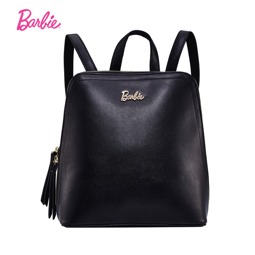 Barbie Women Backpack free style girls PU leather backpacks Student Bag Fashionable Trend Brief Practical Bag