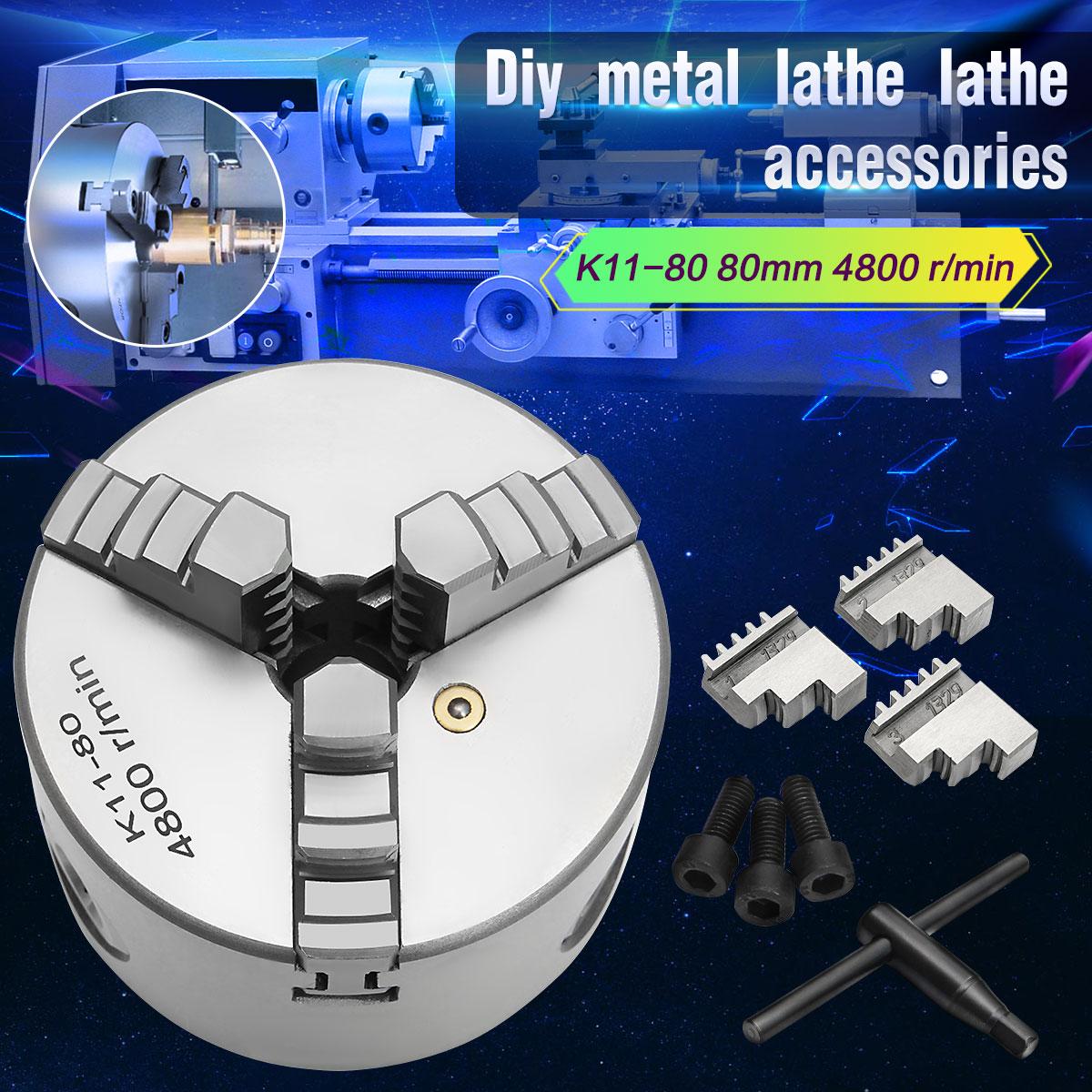 Фирменная Новинка 3 3 челюсти токарный патрон K11-80 K11 80 80 мм ручной патрон самоцентрирующейся токарный Запчасти токарный станок Diy аксессуары