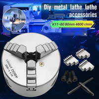 Brand New 3 3 Jaw Lathe Chuck K11 80 K11 80 80mm Manual Chuck Self centering Lathe Parts Diy Metal Lathe Accessories