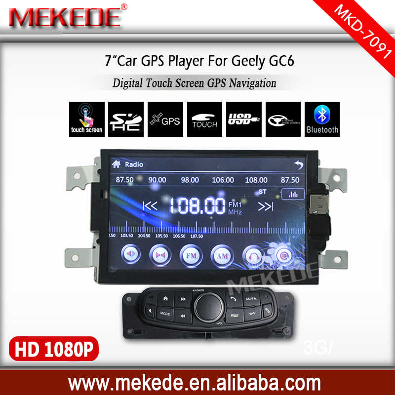 MEKEDE Free shipping free map card gift 7inch car radio cassette multimedia player for geely gc6 with Multi-language menu BT