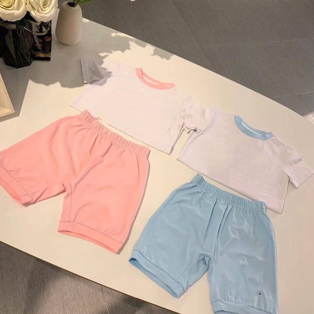 retail 2019 newest Kids Clothes Sets Kid Clothes Set O Neck Short Sleeve T shirts Plus