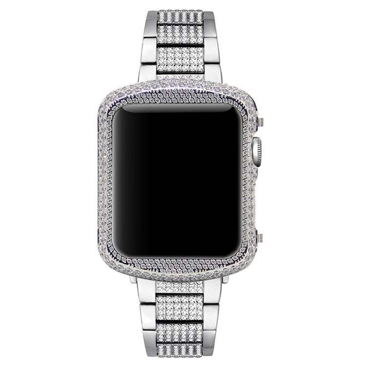 Crystal Diamond Watch Case For Apple Watch Shell frame (16)