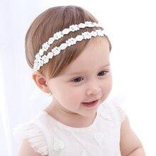 Baby Flower Headband Girls Children Rhinestone Bow Headbands
