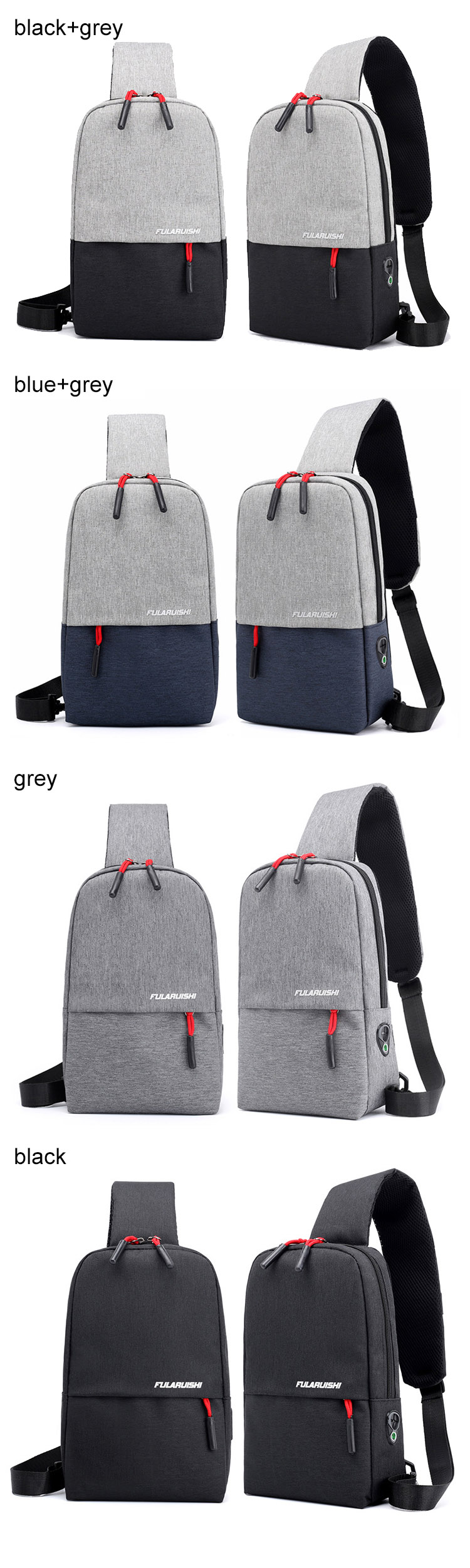 Godspeed shoulder sling bags urban used city large capacity ... 4d4f1f70eb4b3
