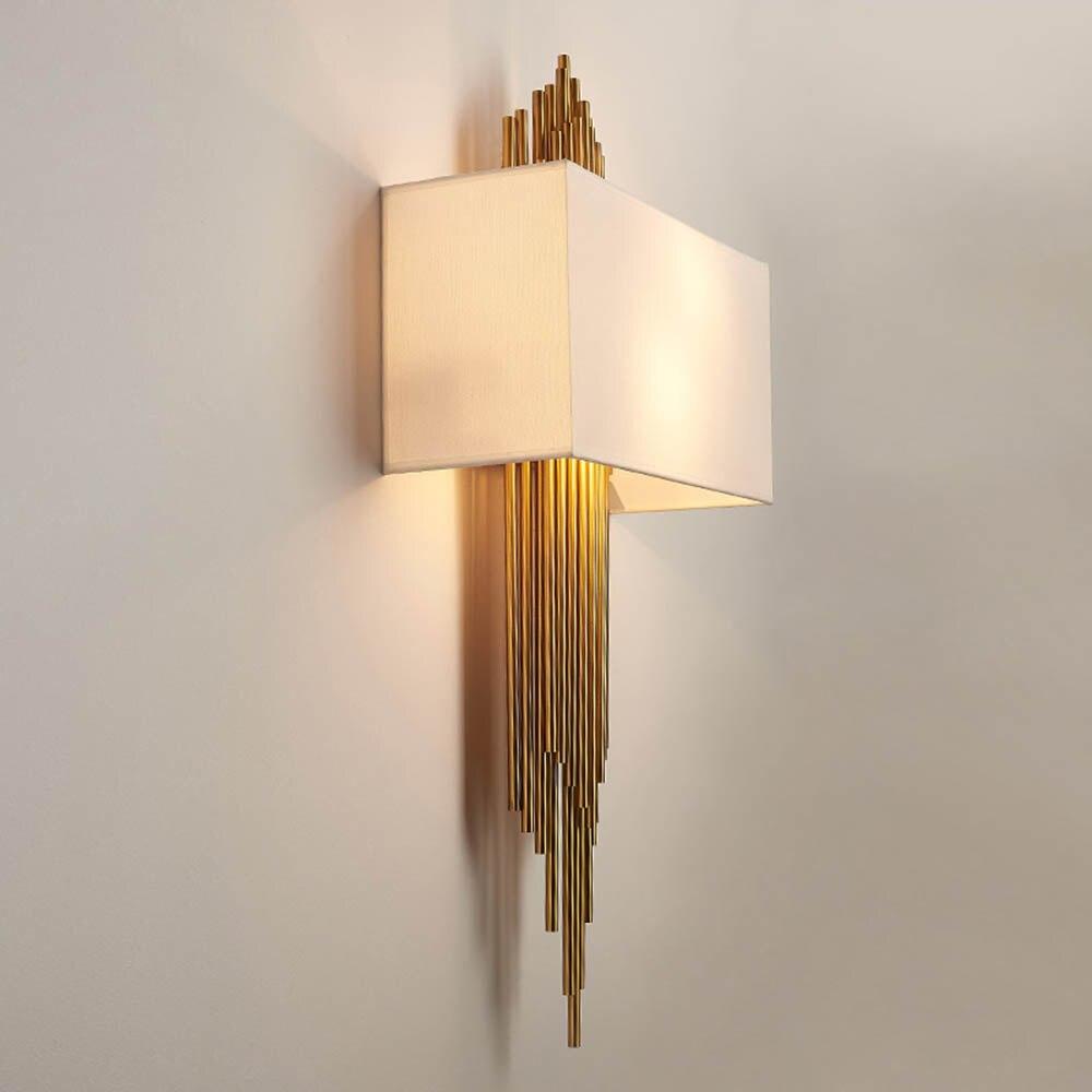 Постмодерн роскошные ткани абажур настенный светильник для Гостиная Спальня коридор ночники бра светильники