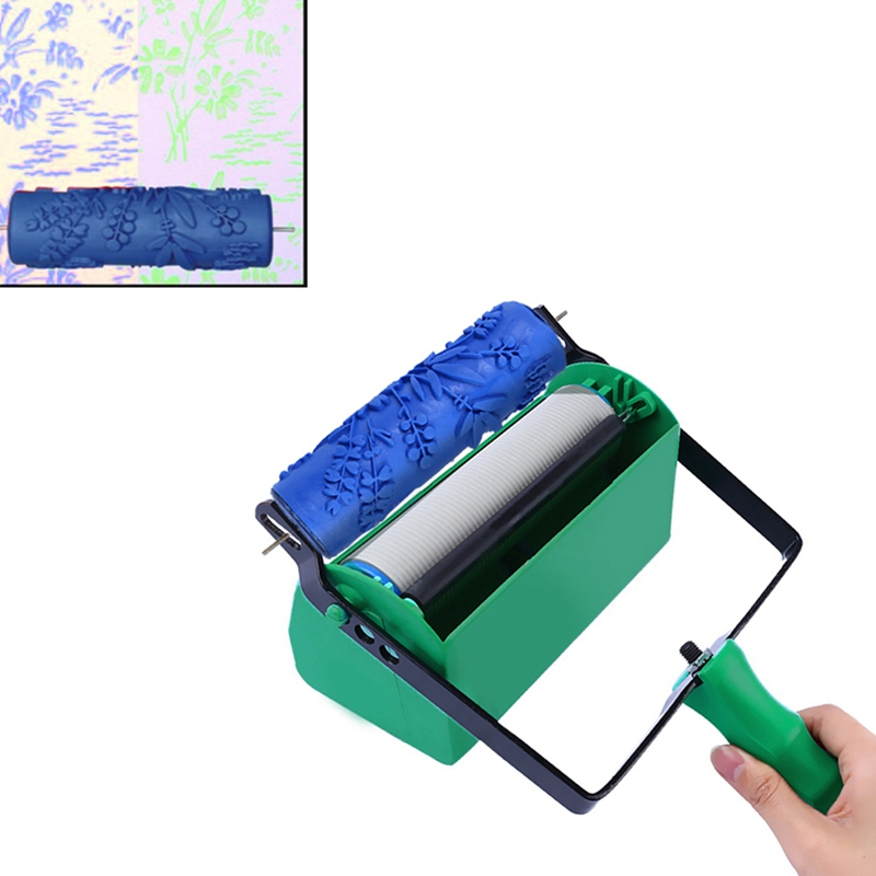 Soft Rubber Of Roller Brush Decoration Double Color Paint Wall Texture Brush Paint Painting Machine For House Wall Decoration