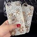 Diamante de luxo crystal pearl flor frasco de perfume case para iphone 7 7 plus 5 5S 6 6 s 6 plus galaxy note 5 4 3 2 s7 s6 borda mais