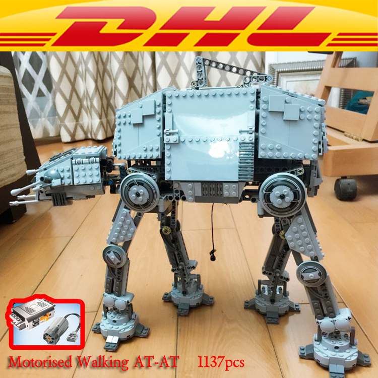 LEPIN 05050 AT-AT Motorized Walking Robot Model Star Plant Building Blocks 75054 10178 action figure creator toys for children элементы питания energizer base aa 2 шт