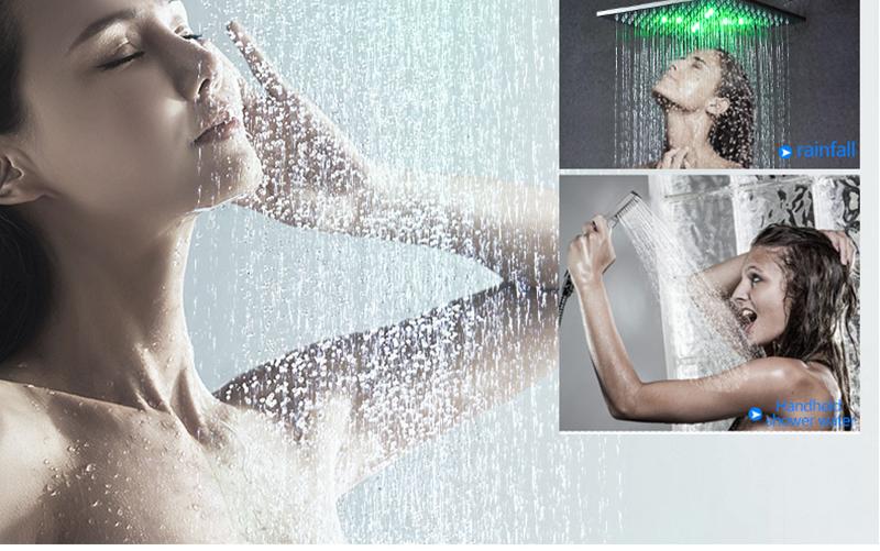 DCAN 10 Rainfall Shower Head System Polished Chrome Bath Wall Mounted Shower Faucet Bathroom Luxury Rain Mixer Shower Combo Set (22)