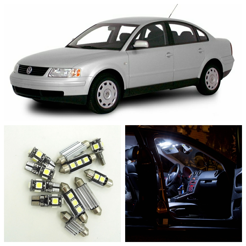 16pcs White Canbus Car LED Light Bulbs Interior Package Kit For 1998 1999 2000 Volkswagen VW Passat Map Dome Glove Box Lamp free shipping 60 17x a4 s4 b5 1998 2001 white led lights interior package kit canbus