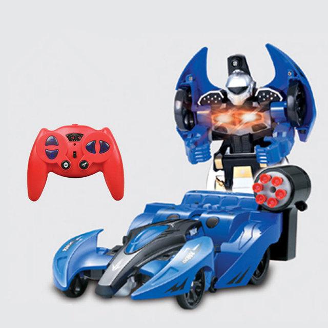 2 em 1 RC Carro Robô Deformável bullets remoto Sem Fio transformadora Brinquedos multifuncionais