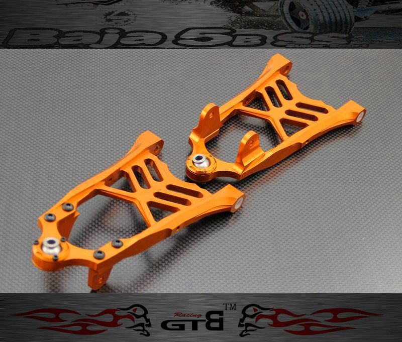 GTBRacing Alloy Front Lower Arm FOR hpi km rv baja 5b ss 5t 5sc GR004 gtbracing gtx5 body shell transparent and silver color for hpi km rv baja 5b ss gy009