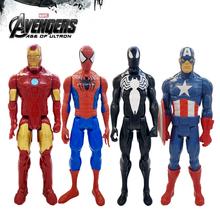 30 cm Marvel Avenger końcówki bohater Thor Thanos Wolverine Spider-Man Iron Man Captain Carol Danvers figurka zabawka lalki tanie tanio Model Unisex Film i telewizja Wyroby gotowe Zachodnia animiation Żołnierz gotowy produkt 6 lat 3 lat Pierwsze wydanie
