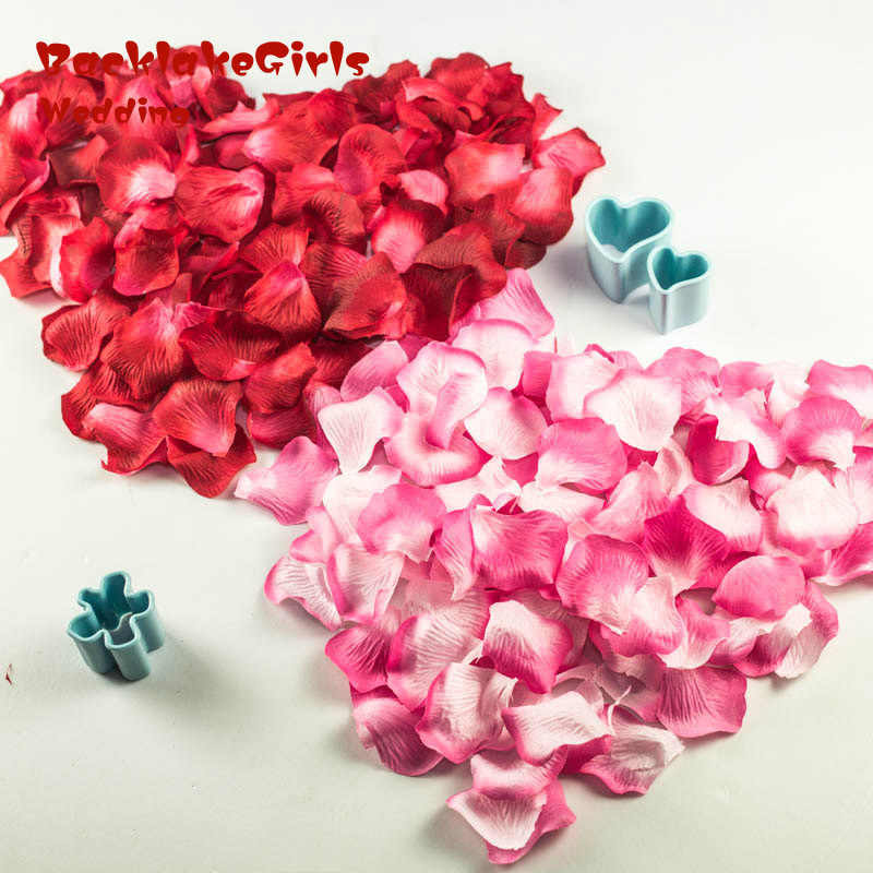 Rose Petals 1000 pcs/lots Romantic Wedding Party Decoration Artificial Flowers Petals Flowers 40 Colors Silk Petali Di Rosa AK2