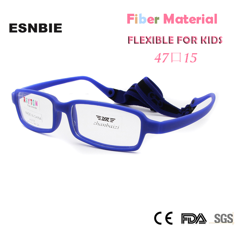 Kids Glasses Frame With Cord New Fiber Screwless Optical Eyewear Unbreakable Eyeglasses Boys Girls 10pcs Men's Eyewear Frames