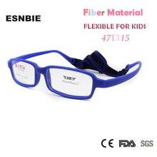 fb24040182b ESNBIE Unbreakable Eyeglass Optical Glasses Frame for Kids Girls Flexible  Fiber Non-Screw Designer Child