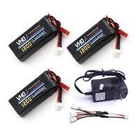 VHO 3pcs 7 4V 1200mAh Battery UL Charger 3 In 1 Cable For YiZhan Tarantula X6