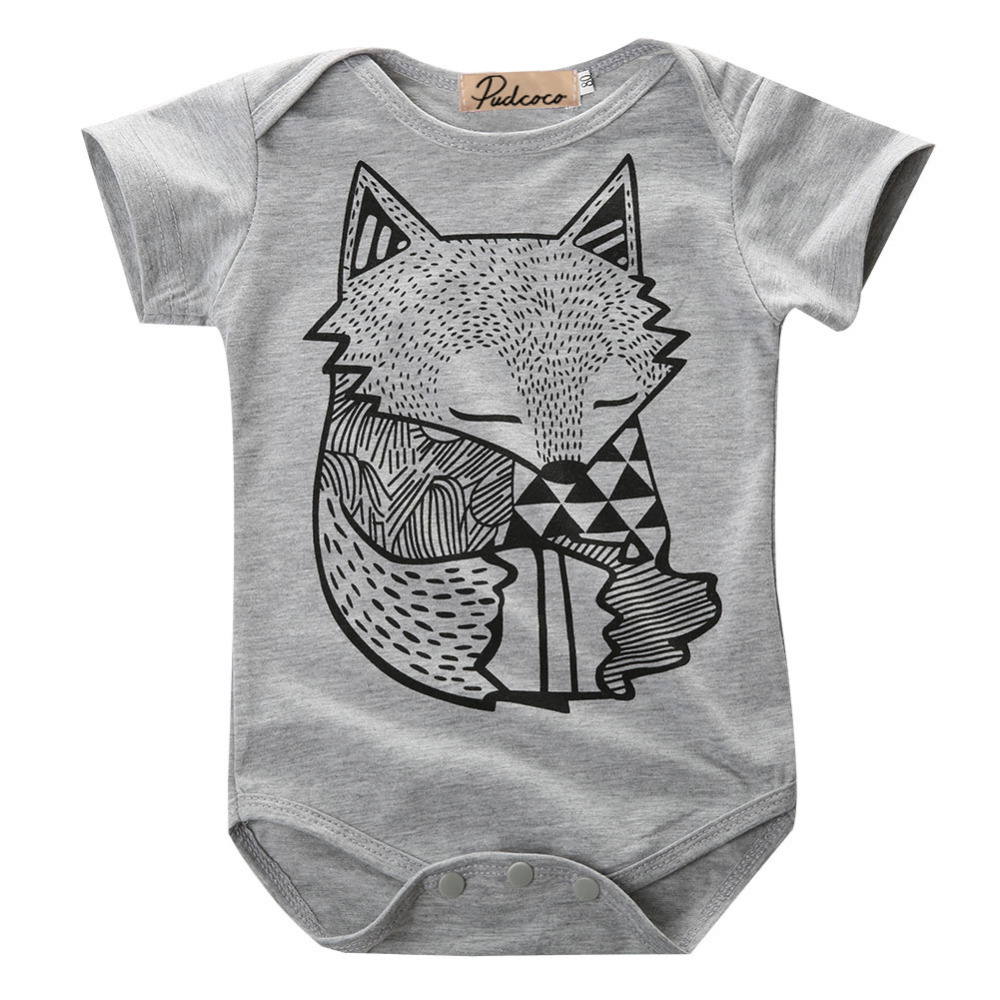 LINSUNG Zipper Jumpsuit Outfits Hooded Gray Boys 0-2 Years Old Fashion Newborn Infant Baby Girls Stars Print Romper gray 70cm