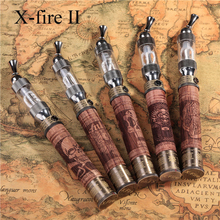 1set E Fire X Fire Kit Electronic Cigarette V2 Vaporizer Variable Voltage Efire X-fire Wood Twist Battery with Wooden Box