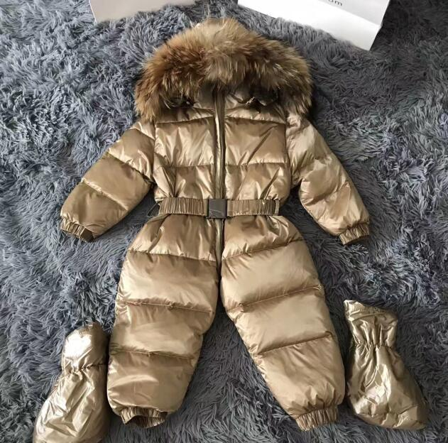 0~3 Years Winter Snowsuit Baby Down Romper Outdoor Infant Skisuit Clothes Girls Overall for Boys Onesie Infantil Kids Jumpsuit