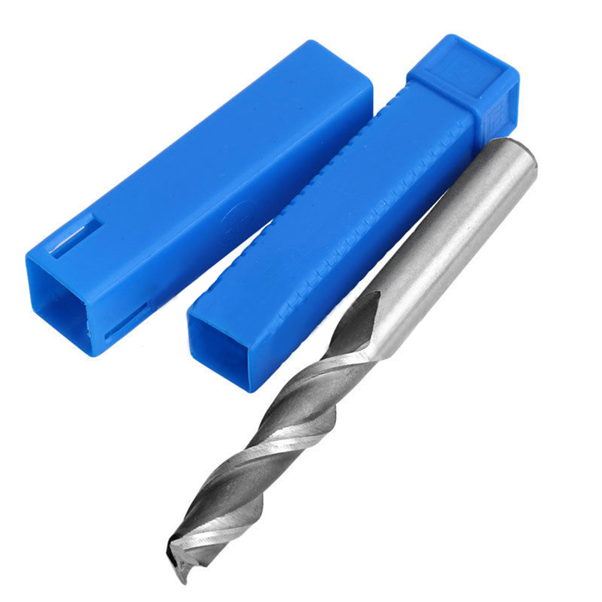 1pc 2 Flute HSS & Aluminium End Mill Extra Long CNC Milling Cutter Bit 4/6/8/10mm with Box