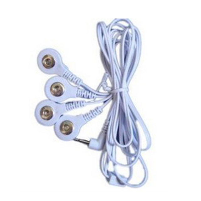 DC 2.5MM 4 in 1 Head electrode wires /cable for digital therapy machine ,tens machine ,slimming massager