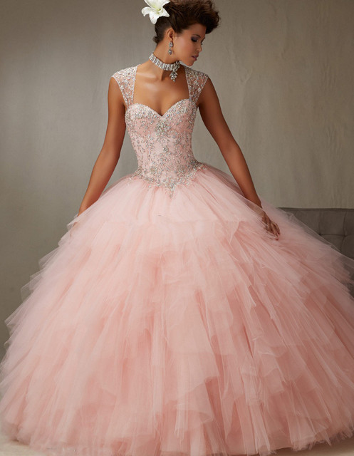 9ec210a54f8 2018 New Prom gown Detachable Strap Sexy Fluffy Sequin Plus Size Women  Vintage Quinceanera Sweetheart Mother of the Bride Dresse