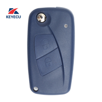 KEYECU Replacement Remote Car Key Fob 2 Button 433MHz PCF7946 for Fiat Punto Ducato Stilo Panda Central, Blue