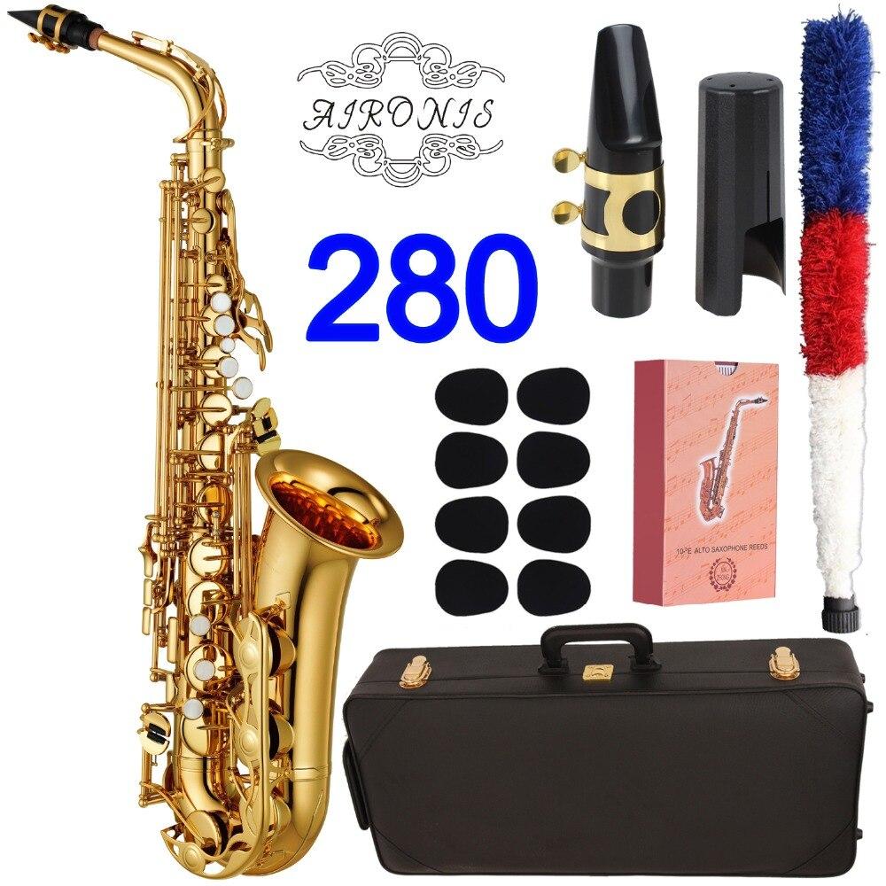 Nuovo Sassofono Contralto 280 Professionale Alto Sax Personalizzato 280 Serie di Alta Sassofono Oro Lacca Con Boccaglio Ance Collo Caso