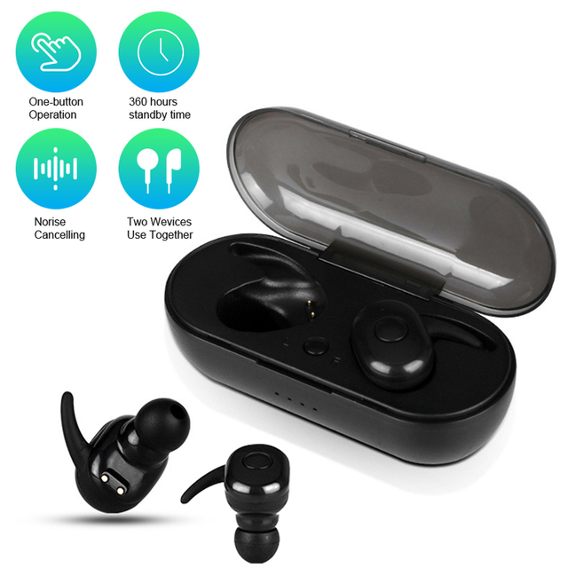 TWS Wireless Bluetooth Earphone For Iphone Xiaomi Waterproof Headphones Sport Earbuds Bluetooth Headsets With Charging Box