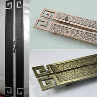 Chinese Antique Clouds Hotel Doorknob Carving Wood Door Handle European Modern Luxurious Glass Door Handle