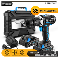 DEKO GCD20DU3 20V MAX Lithium Battery DIY Power Driver Variable Speed Electric Screwdriver Impact Cordless Drill with LED Light